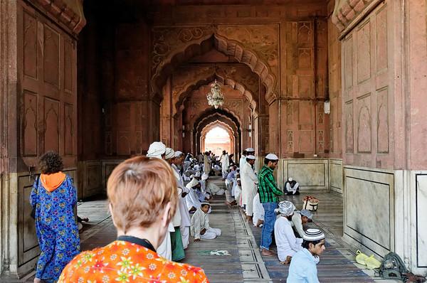 Prayers at the Jama Masjid Mosque, Delhi