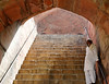Steps and man, Humayun's Tomb, Delhi