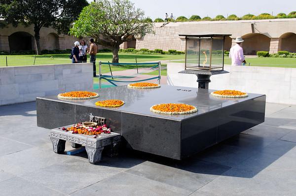 Eternal flame, Gandhi Memorial, Raj Ghat, Delhi