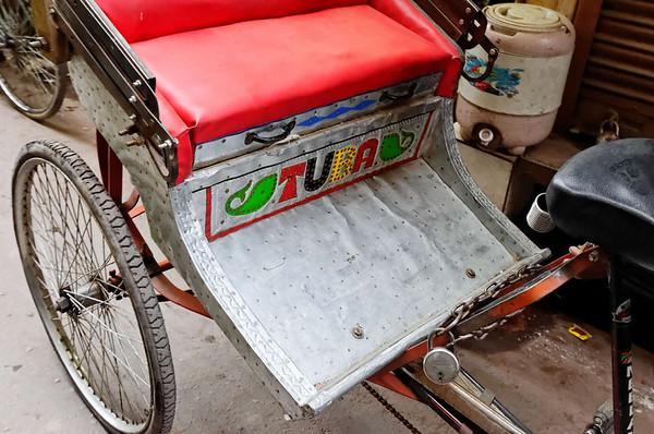 Rickshaw detail, rickshaw ride, Delhi