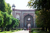 Main entrance to tomb garden of Humayun, six-sided stars are not Jewish but used by the Mughals, Delhi