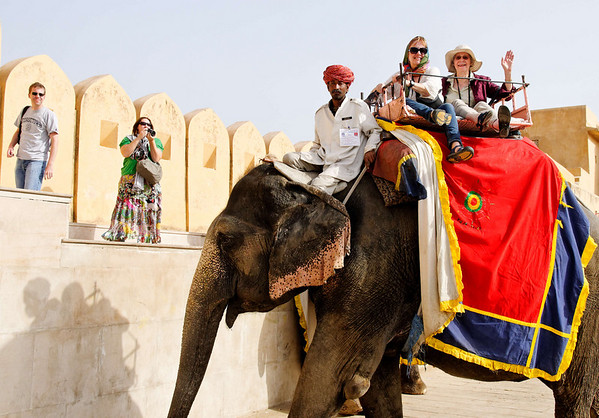 Annie and Dorothy, Amber Fort, Jaipur