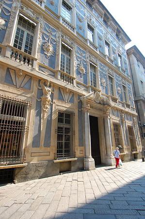 Building detail, Via Garibaldi Genova, Italy