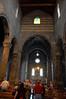 Showing the unusual cross-shaped aperture Basilica dei Fieschi San Salvatore di Cogorno, Italy