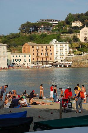 Beach scene, Sestre Levante, Italy