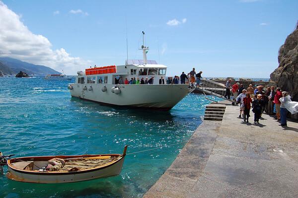 Disembarking Monterosso, Italy