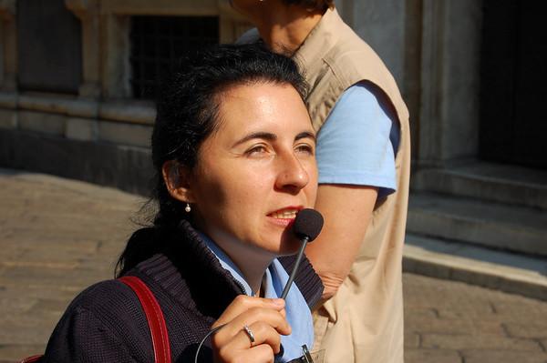 Christina, our guide Genova, Italy