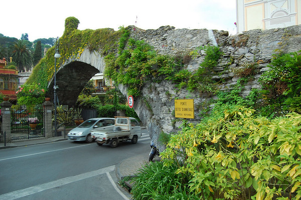 Roman era bridge named after Hannibal who came through here Rapallo, Italy