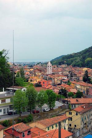 The town Carrara, Italy
