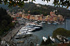 Harbor view from hill Portofino, Italy