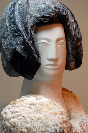 Multi-piece sculpture for sale in the factory shop Carrara, Italy