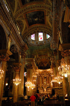 View inside the church Santa Margherita, Italy