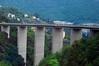 Autostrada bridge leaving Genova, Italy