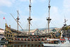 "Full scale sailing ship of the 1500's, set of ""Pirates of the Caribbean"" Genova, Italy"