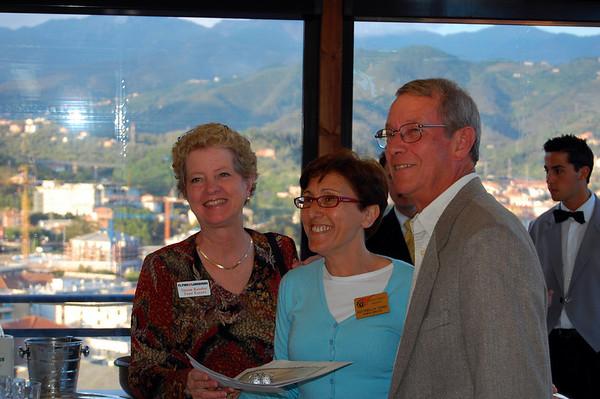 UT hosts Susan & Jim farewell reception Sestri Levante, Italy