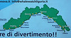 Map of the Ligurian coastline