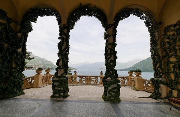 climbing fig from underneath, Villa Balbianello, Lake Como