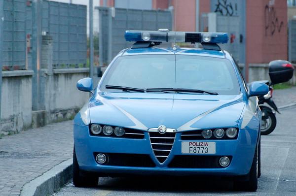 Alfa Romeo police car