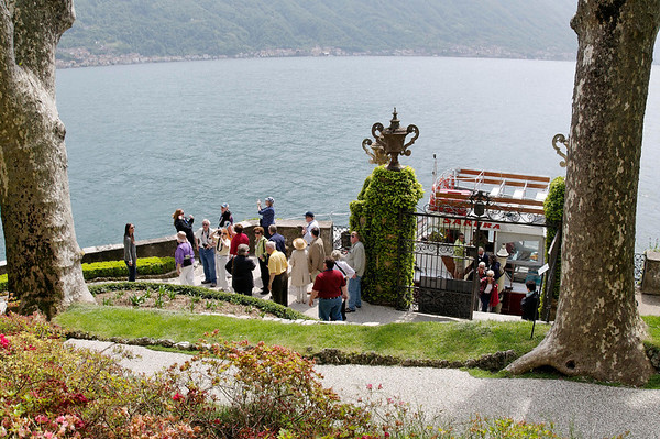 arriving at Villa Balbianello, Lake Como, Italy