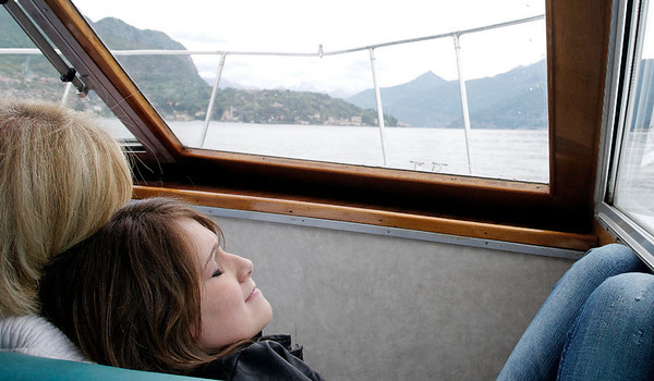 Vanessa relaxing against mom Elaine