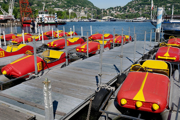 Lake Como version of bumper cars