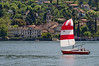 great day for sailing on Lake Como