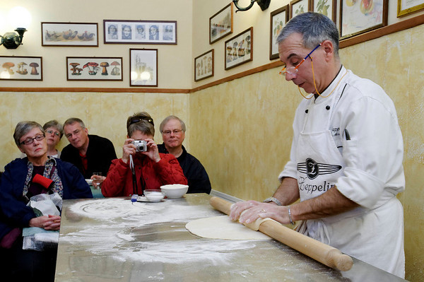 Orvieto, Italy; rolling the dough
