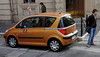 Rome, Italy; Peugeot with sliding doors like a minivan, useful in tight spaces like Rome