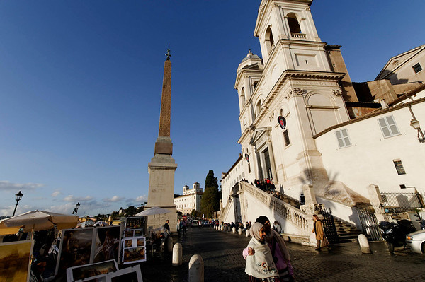 Rome, Italy; near the Spanish Steps