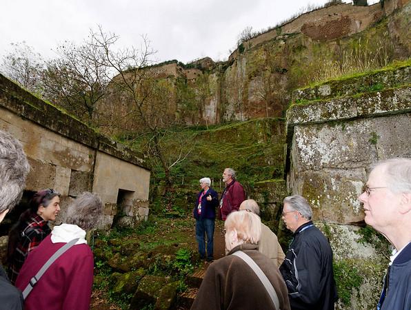Walking through the Etruscan tombs