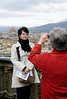 Florence, Italy; Denise with Mom Marcia taking the photo - the Duomo in the background.