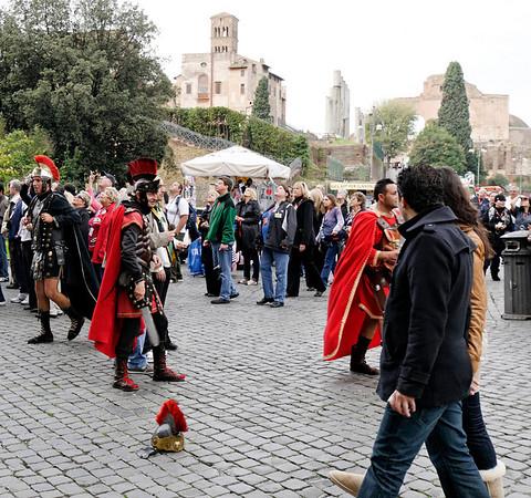Rome, Italy; cheesy gladiators for photo ops