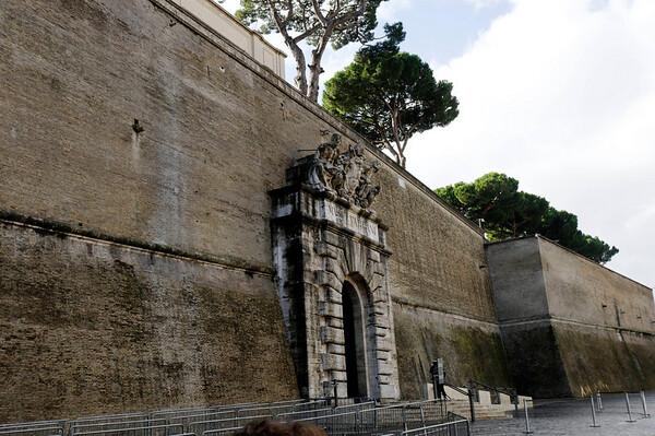Rome, Italy; Vatican City wall