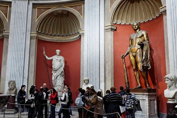 Rome, Italy; Vatican City, bronze statue, rare since most were melted down