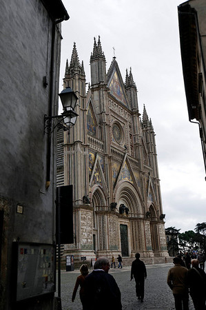 The Duomo, Orvieto, impressive as you come out of a small side street.