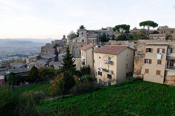 Dusk, Orvieto homes facing west