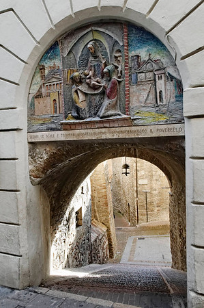 Assisi, Italy, magnificent gate