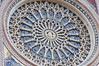 The Duomo, Orvieto, rose window, with Jesus in the center