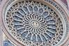The Duomo, Orvieto, rose window, with Jesus in the center