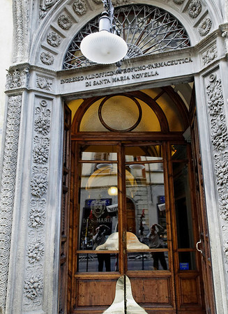 Florence, Italy; oldest pharmacy still operating.