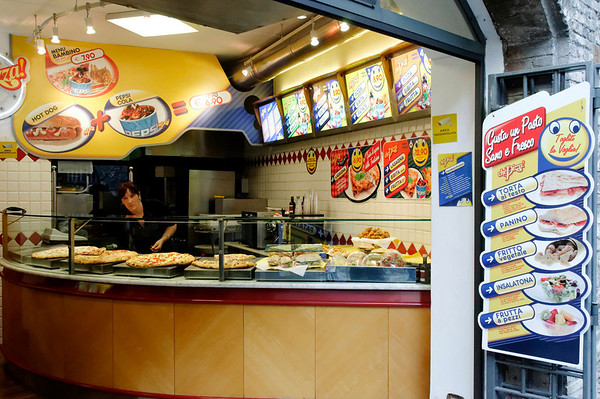 Assisi, Italy, fast food Italian-style
