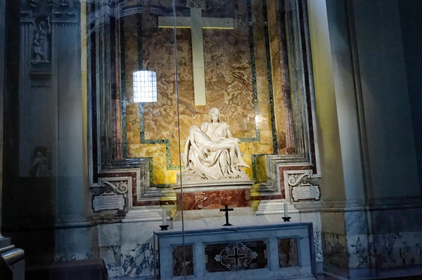 Rome, Italy; Vatican City, St. Peter's interior, Pietà (Michelangelo)