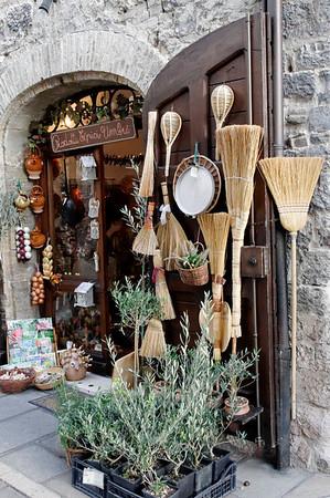 Assisi, Italy, shop wares