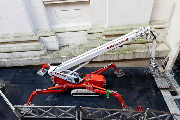 Rome, Italy; Vatican City, could be a work of art but just a fancy cherry picker