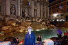 Rome, Italy; Suzanne and the Trevi fountain
