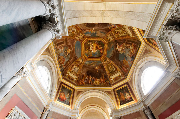 Rome, Italy; Vatican City, ceiling detail