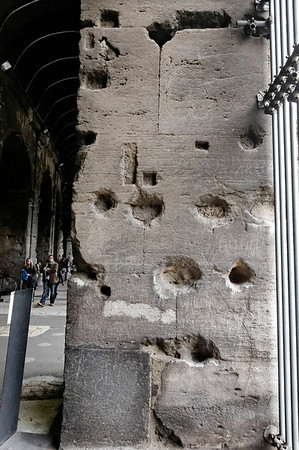 Rome, Italy; Roman graffiti for a brothal across the way (drawing at upper right) - story from Jeff who seemed to have inside information