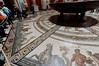 Rome, Italy; Vatican City, circular hall marble floor mosaic