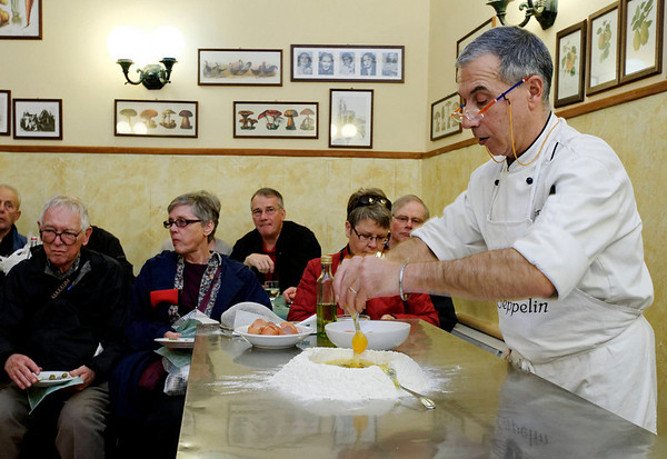 Orvieto, Italy; making the pasta