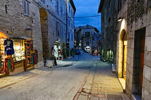Assisi, Italy; night comes